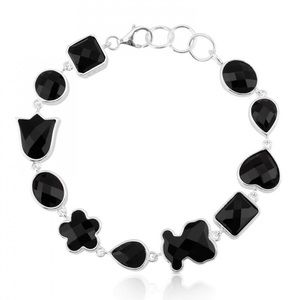 TOUS Black Onyx and Sterling Silver Bracelet